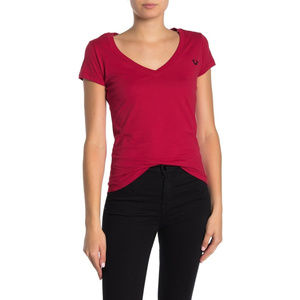 True Religion Women's Buddha V-Neck Tee T-Shirt
